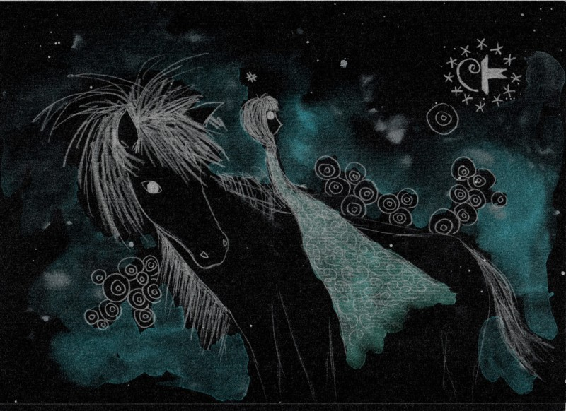 Horse with Asperger syndrome. Tauno Erik