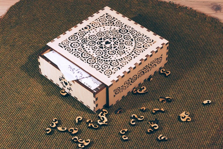 box with letters
