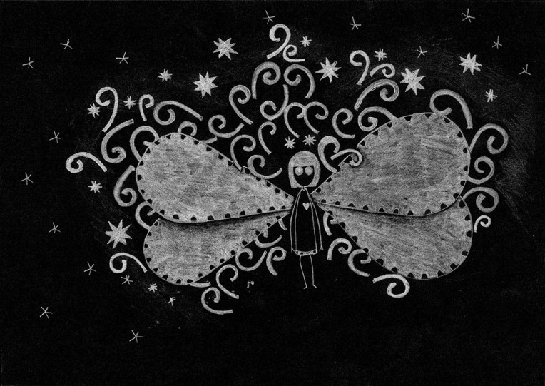 One day .. my wings are growing so much .. that I could fly anywhere I wish