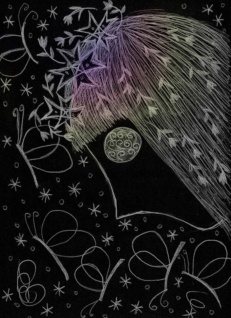 liblika tüdruk
