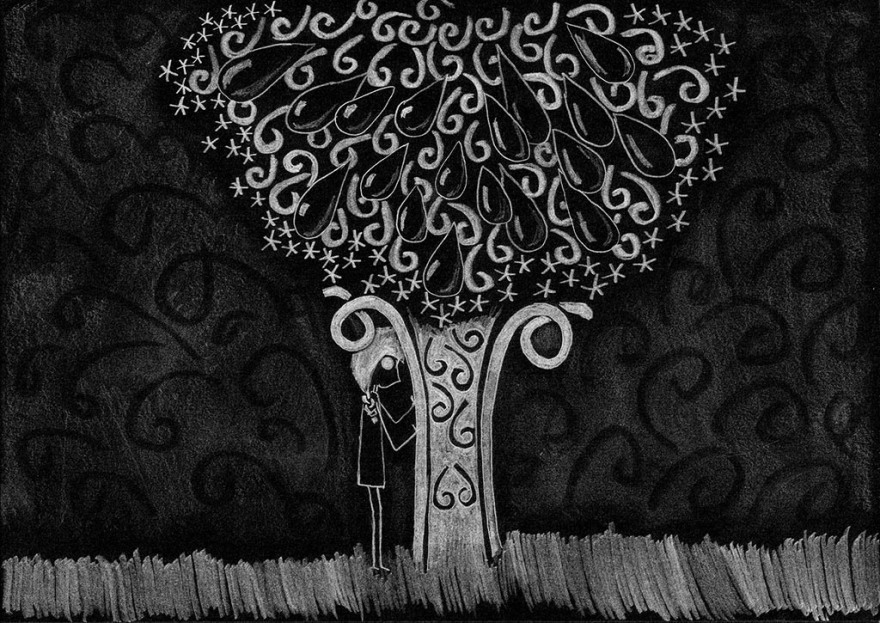 When your tears to grow a tree ..