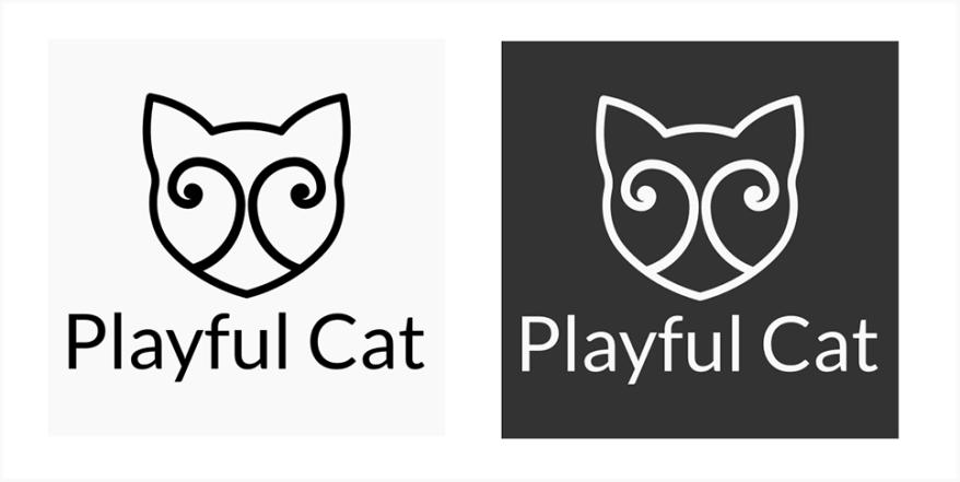 Playfulcat logo b ja w