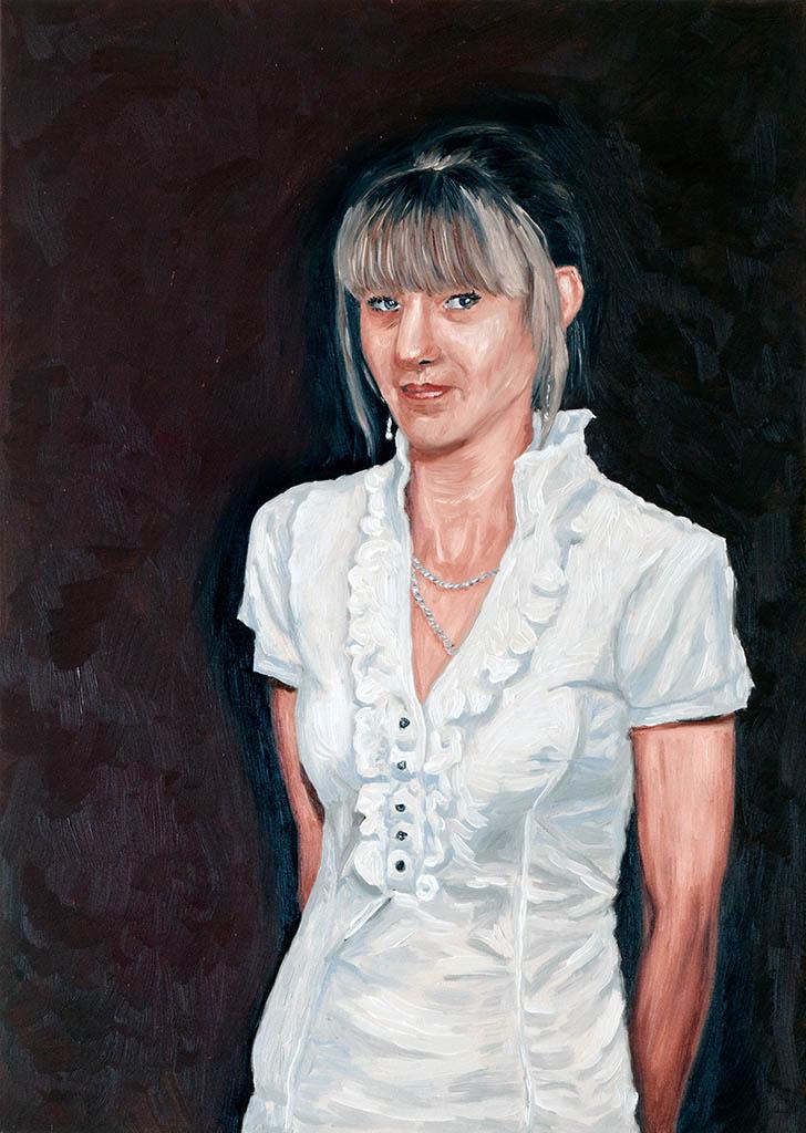 Girl in white. Tauno Erik