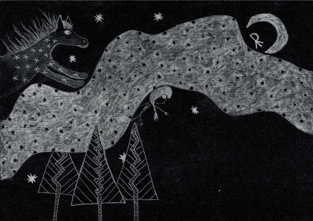 River in the midnight sky. Tauno Erik