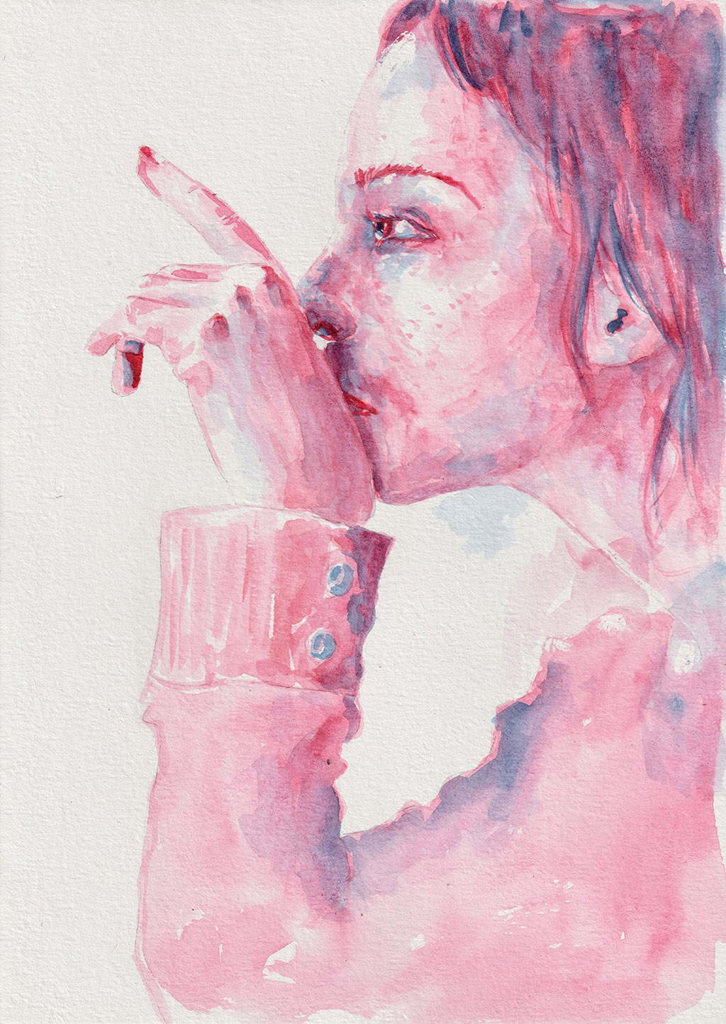YOU. Watercolor, A4, Tauno Erik