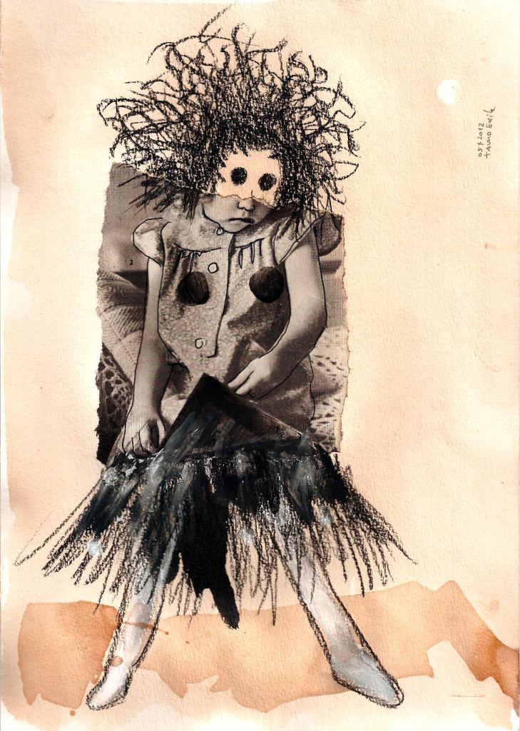 Burn All II. Collage on paper. Tauno Erik