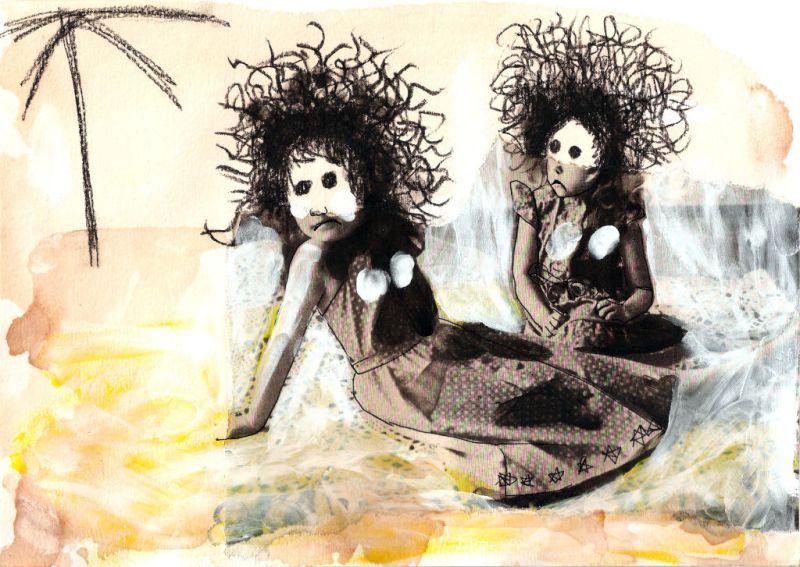 Summer Lovers. Collage on paper. Tauno Erik