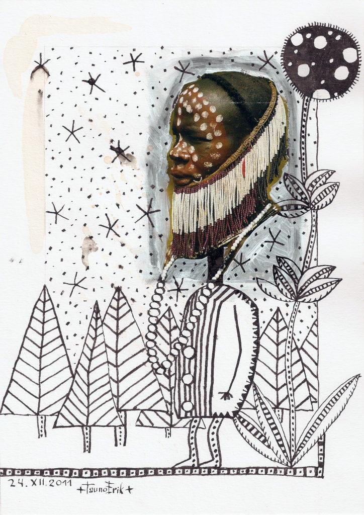 Talv. Winter. Collage on paper. Tauno Erik