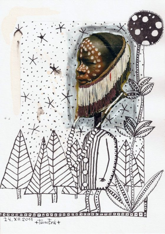 Talv. Winter. Collage on paper. Tauno Erik