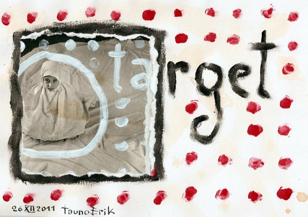 Target. Collage on paper. Tauno Erik