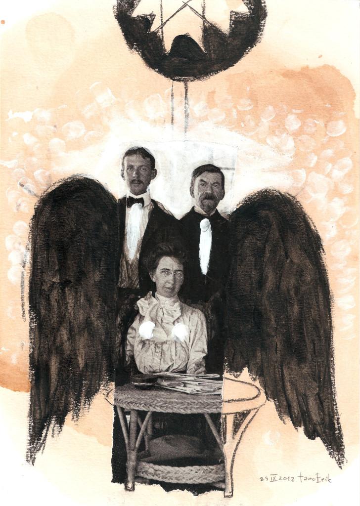 Pigeon. Collage on paper. Tauno Erik
