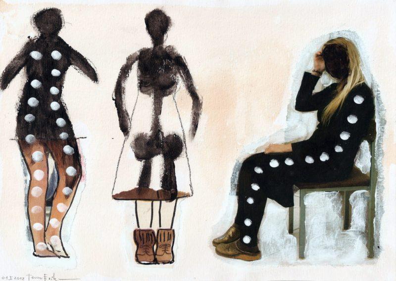 Shadows. Collage on paper. Tauno Erik