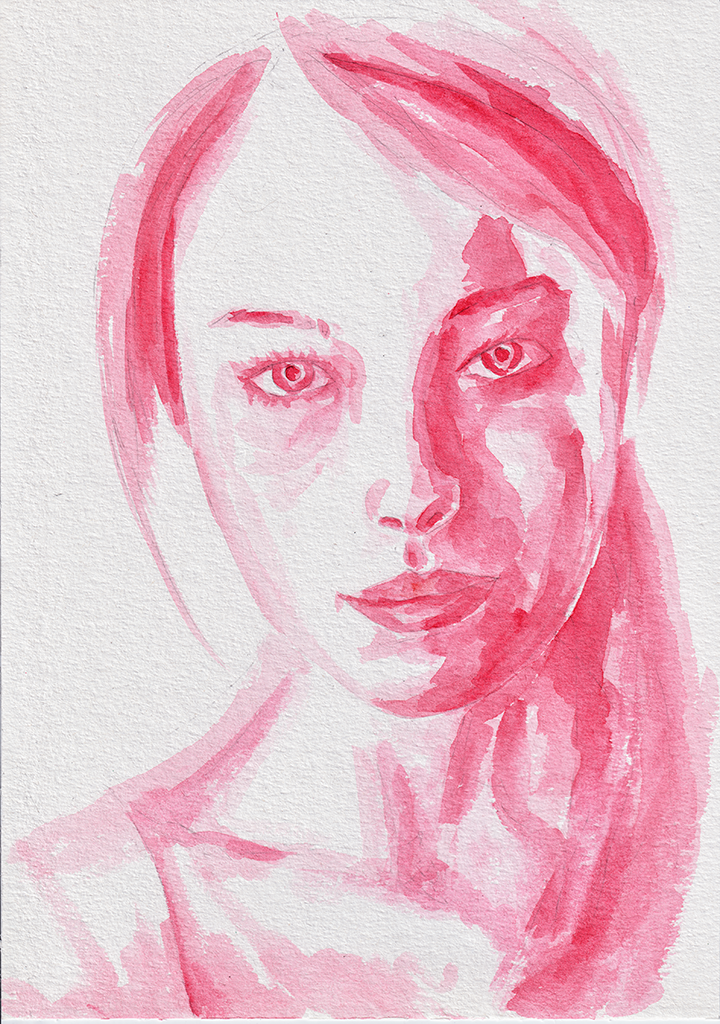 Verev. Watercolor on paper. Tauno Erik