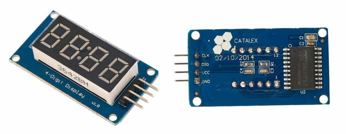 7-segment display module based on TM1637 chip