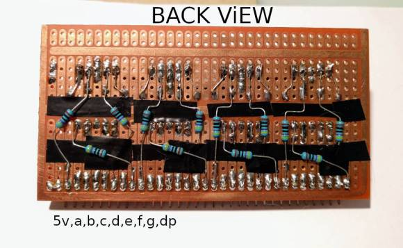 LED module back view