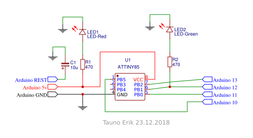 Programming ATtiny85 with Arduino Uno – Tauno Erik