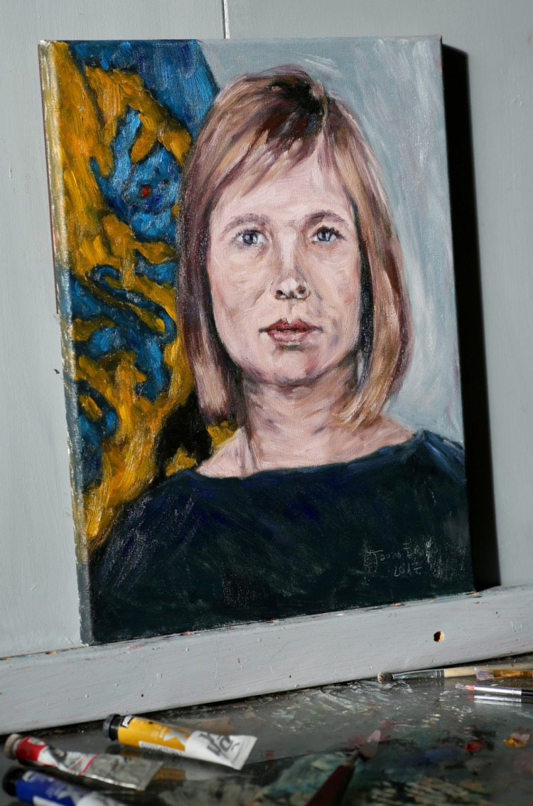 Kersti Kaljulaid. Oil on canvas. Tauno Erik