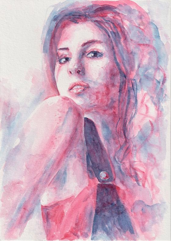 Amy. Watercolor, A4, Tauno Erik