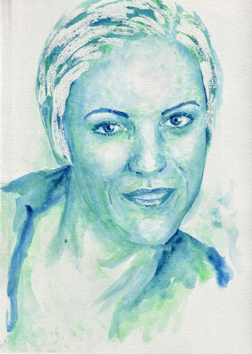Valeria. Watercolour on A4 paper. Tauno Erik