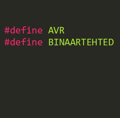 AVR: binaartehted