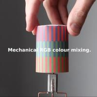 Mechanical RGB colour mixing