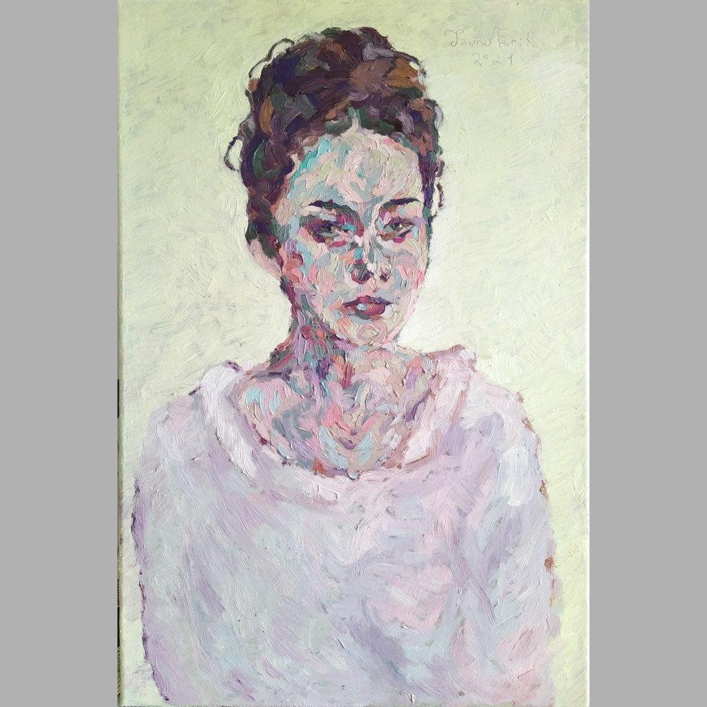 Portarit of a young woman. Tauno Erik 2021